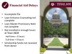 financial aid delays