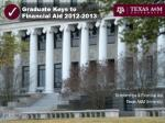 graduate keys to financial aid 2012 2013