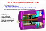 solid for sidis pvdis with 12 gev jlab
