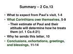 summary 2 co 13
