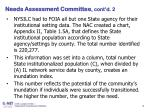 needs assessment committee cont d 2