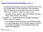 needs assessment committee cont d 3