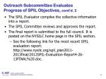 outreach subcommittee evaluates progress of spil objectives cont d 2