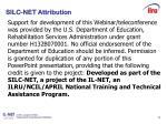 silc net attribution