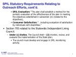 spil statutory requirements relating to outreach efforts cont d
