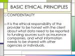 basic ethical principles7