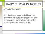 basic ethical principles8