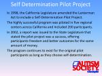 self determination pilot project