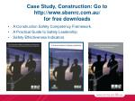 case study construction go to http www sbenrc com au for free downloads