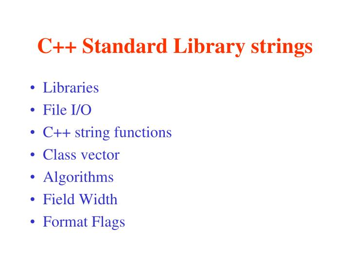 c standard library strings n.