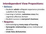interdependent view propositions