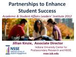 partnerships to enhance student success academic student affairs leaders institute 2012