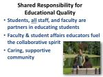 shared responsibility for educational quality