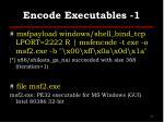 encode executables 1