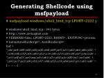 generating shellcode using msfpayload