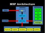 msf architecture