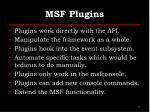 msf plugins