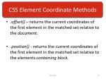 css element coordinate methods