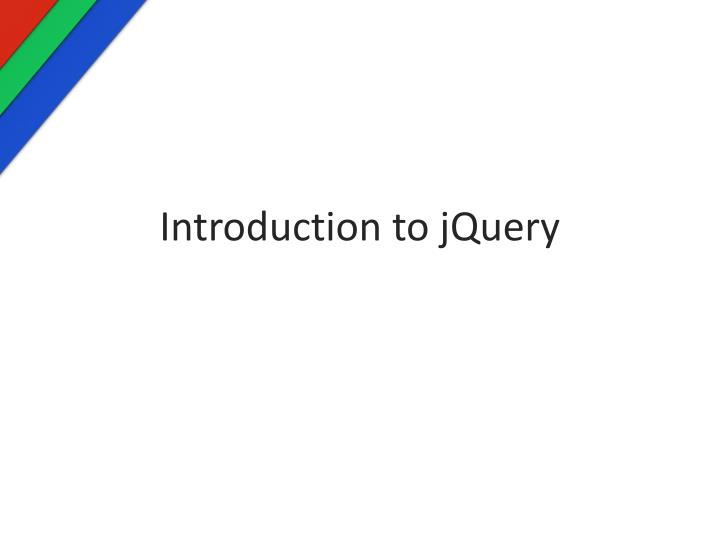 introduction to jquery n.