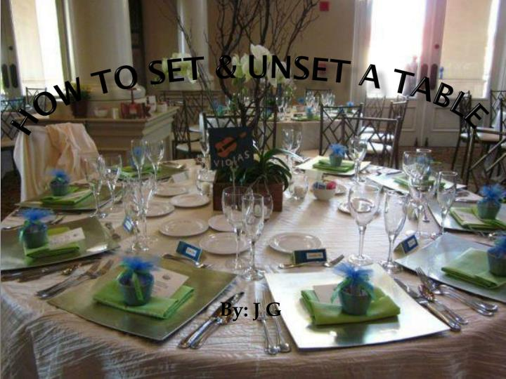 how t o set unset a table n.