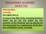 measurable academic objective1