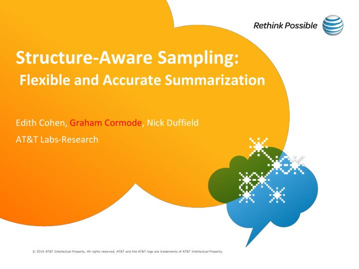 structure aware sampling flexible and accurate summarization n.