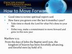 how to move forward