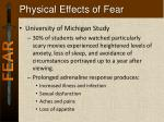 physical effects of fear