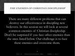 the enemies of christian discipleship1