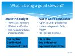 what is being a good steward