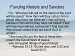 funding models and senders