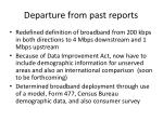 departure from past reports