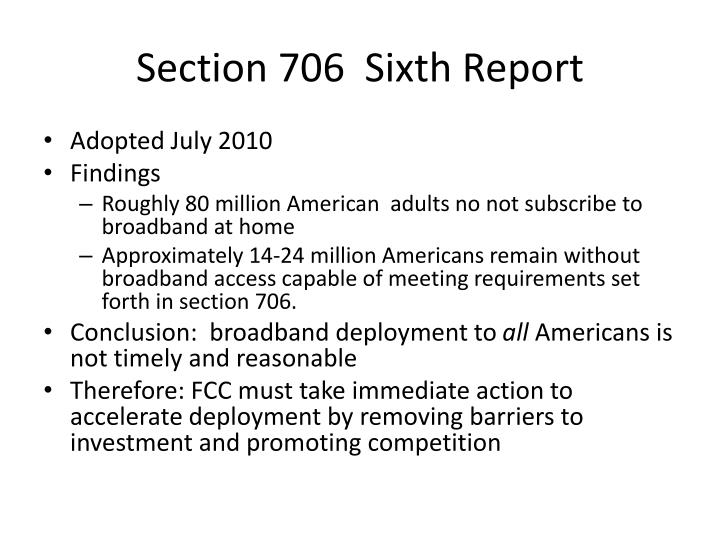 section 706 sixth report n.