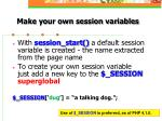 make your own session variables