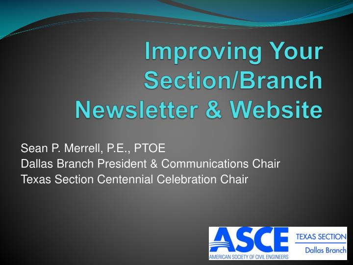 improving your section branch newsletter website n.
