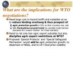 what are the implications for wto negotiations