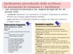facilitazione procedurale della scrittura lo strumento di revisione e i facilitatori1