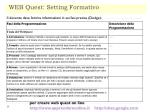 web quest setting formativo