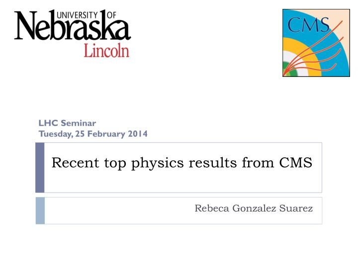 recent top physics results from cms n.