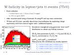 w helicity in lepton jets tt events 7tev