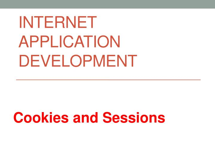 internet application development n.
