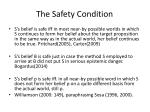 the safety condition