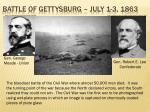 battle of gettysburg july 1 3 1863
