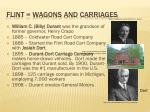 flint wagons and carriages