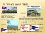 gilded age yacht clubs