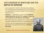 lee s invasion of maryland and the battle of antietam