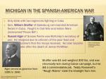 michigan in the spanish american war