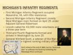 michigan s infantry regiments