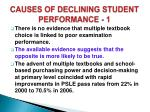 causes of declining student performance 1