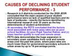 causes of declining student performance 3